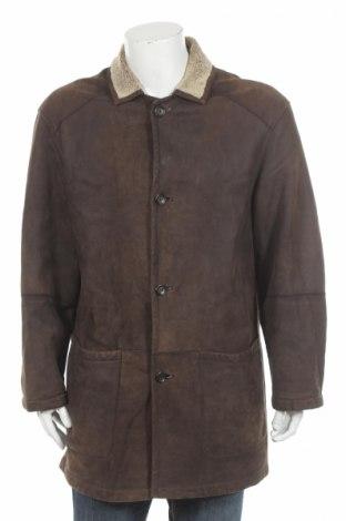 Αντρικό δερμάτινο παλτό Pierre Cardin