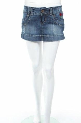 Φούστα Bershka, Μέγεθος XS, Χρώμα Μπλέ, 98% βαμβάκι, 2% ελαστάνη, Τιμή 4,52€