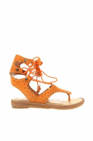 Сандали Apepazza, Размер 37, Цвят Оранжев, Естествен велур, Цена 31,50лв.