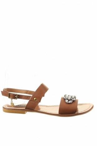 Sandale Cuple, Mărime 37, Culoare Maro, Piele naturală, Preț 151,85 Lei
