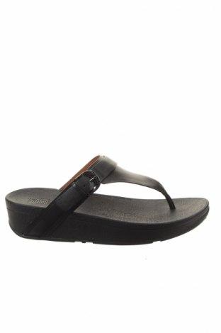 Papuci de casă Fitflop, Mărime 39, Culoare Negru, Piele naturală, Preț 136,39 Lei