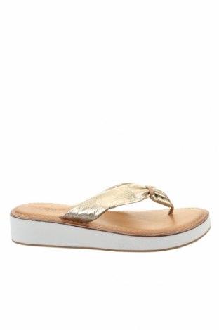 Papuci de casă Inuovo, Mărime 40, Culoare Auriu, Piele naturală, Preț 140,26 Lei