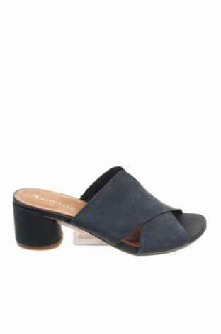 Papuci de casă Tamaris, Mărime 42, Culoare Albastru, Piele naturală, Preț 126,32 Lei