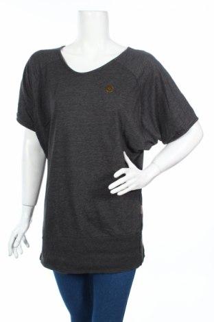 Дамска блуза Naketano, Размер L, Цвят Сив, 65% памук, 24% полиестер, Цена 10,24лв.