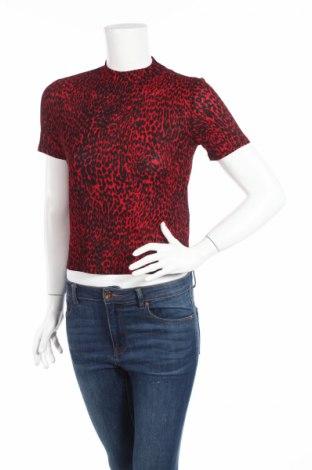 Дамска блуза Zara, Размер S, Цвят Червен, 96% полиестер, 4% еластан, Цена 10,53лв.