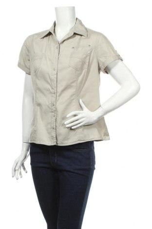 Дамска риза Charles Vogele, Размер L, Цвят Бежов, 97% памук, 3% еластан, Цена 4,73лв.
