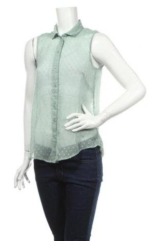 Дамска риза H&M, Размер XS, Цвят Зелен, Цена 4,20лв.