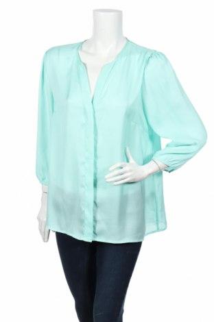 Γυναικείο πουκάμισο H&M, Μέγεθος XL, Χρώμα Πράσινο, Πολυεστέρας, Τιμή 2,23€