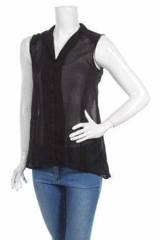 Дамска риза H&M, Размер S, Цвят Черен, Полиестер, Цена 3,94лв.