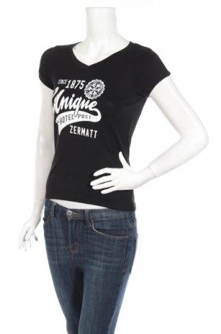 Дамска тениска Sol`s, Размер S, Цвят Черен, Памук, Цена 13,39лв.