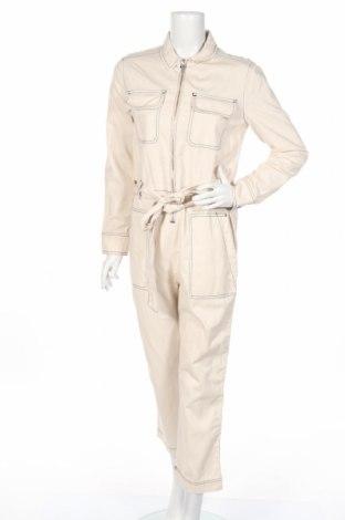 Γυναικεία σαλοπέτα Zara, Μέγεθος M, Χρώμα  Μπέζ, 70% βαμβάκι, 30% λινό, Τιμή 10,67€