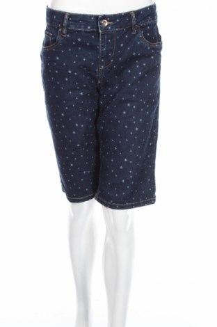 Dámske kraťasy  Bermuda, Veľkosť XL, Farba Modrá, 78% bavlna, 20% polyester, 1% elastan, Cena  9,59€