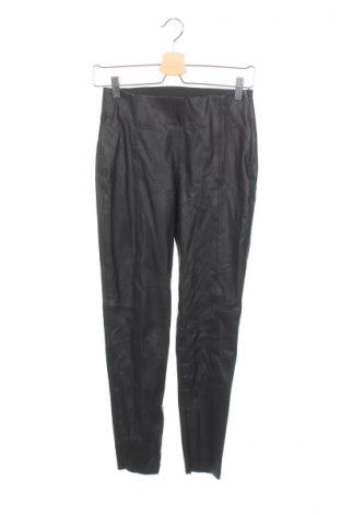 Дамски кожен панталон Zara, Размер S, Цвят Черен, Еко кожа, Цена 19,60лв.