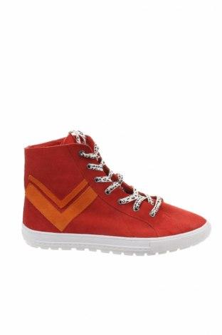 Dámské boty  Reserved, Rozměr 39, Barva Červená, Přírodní velur , Cena  474,00Kč