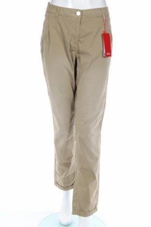 Γυναικείο παντελόνι S.Oliver, Μέγεθος L, Χρώμα Πράσινο, Βαμβάκι, Τιμή 11,55€
