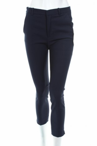 Дамски панталон Zara, Размер S, Цвят Син, 59% памук, 38% полиестер, 3% еластан, Цена 17,70лв.