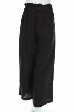 Pantaloni de femei Zara, Mărime L, Culoare Negru, 53% in, 47% bumbac, Preț 62,10 Lei