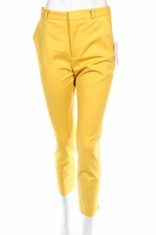 Pantaloni de femei Zara, Mărime M, Culoare Galben, 97% bumbac, 3% elastan, Preț 97,81 Lei