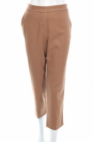 Γυναικείο παντελόνι Zara, Μέγεθος S, Χρώμα Καφέ, 65% πολυεστέρας, 32% βισκόζη, 2% ελαστάνη, Τιμή 6,28€