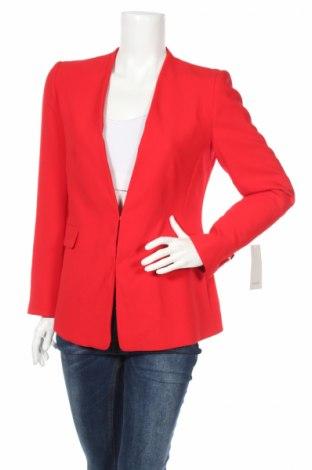 Дамско сако Zara, Размер L, Цвят Червен, 72% полиестер, 21% вискоза, 7% еластан, Цена 31,05лв.