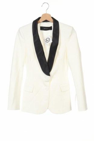 Γυναικείο σακάκι Zara, Μέγεθος XS, Χρώμα Εκρού, 74% πολυεστέρας, 19% βισκόζη, 7% ελαστάνη, Τιμή 22,76€