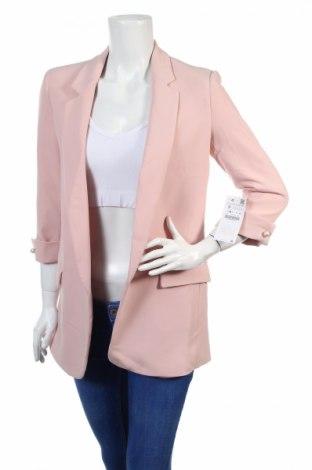 Дамско сако Zara, Размер S, Цвят Розов, 97% полиестер, 3% еластан, Цена 31,05лв.
