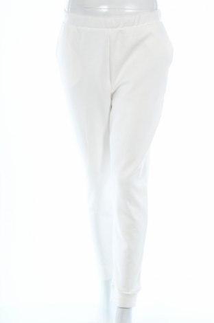 Pantaloni trening de femei Zara, Mărime M, Culoare Alb, 80% bumbac, 20% poliester, Preț 73,89 Lei