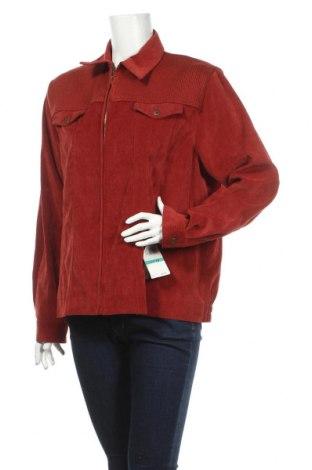 Geacă de femei Alfred Dunner, Mărime XL, Culoare Roșu, 80% poliester, 17% poliamidă, 3% elastan, Preț 34,08 Lei
