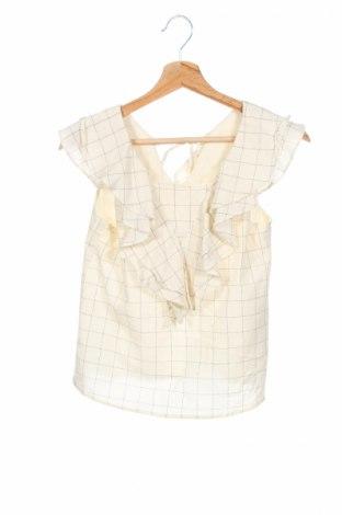 Детска блуза Zara Kids, Размер 13-14y/ 164-168 см, Цвят Екрю, 55% памук, 28% полиестер, 9% вискоза, 8% лен, Цена 11,50лв.