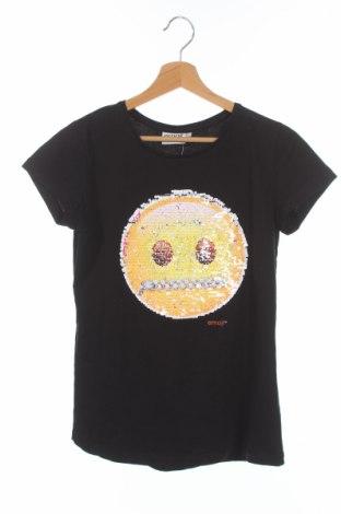 Детска тениска Emoji, Размер 15-18y/ 170-176 см, Цвят Черен, 100% памук, Цена 11,03лв.