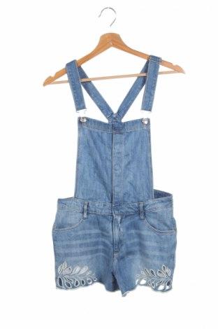 Детски гащеризон H&M, Размер 13-14y/ 164-168 см, Цвят Син, 83% памук, 17% вискоза, Цена 20,53лв.