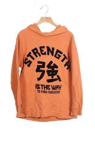 Детски суичър Zara, Размер 7-8y/ 128-134 см, Цвят Оранжев, Памук, Цена 12,25лв.