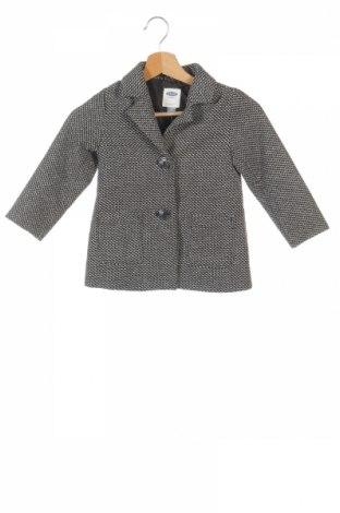 Детско палто Old Navy, Размер 3-4y/ 104-110 см, Цвят Черен, 65% полиестер, 25% вълна, 10% други материали, Цена 32,06лв.