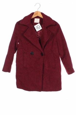 Детско палто Zara Kids, Размер 11-12y/ 152-158 см, Цвят Червен, 67% вълна, 24% полиамид, 8% мохер, 1% вълна от алпака, Цена 57,85лв.