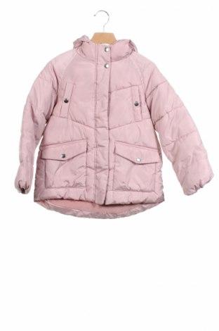Детско яке Zara Kids, Размер 8-9y/ 134-140 см, Цвят Розов, Полиестер, Цена 43,47лв.