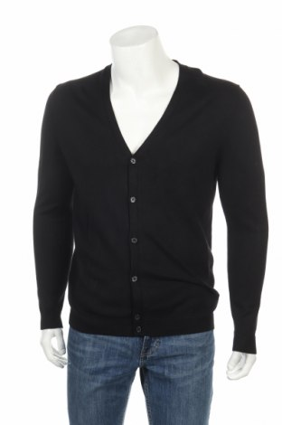 Мъжка жилетка Zara, Размер XL, Цвят Черен, 80% вискоза, 20% полиамид, Цена 28,32лв.