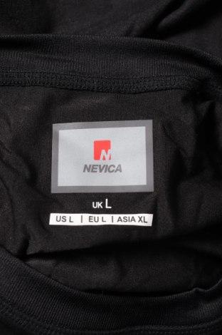 Мъжка спортна блуза Nevica, Размер L, Цвят Черен, 91% полиестер, 9% еластан, Цена 44,25лв.