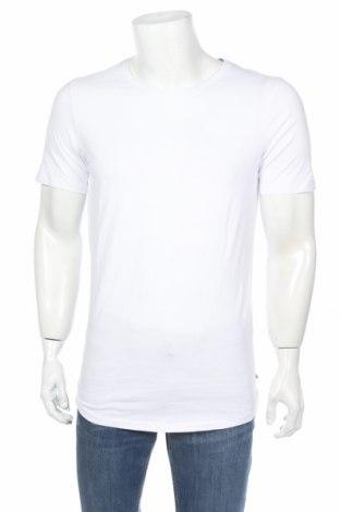 Мъжка тениска Jack & Jones, Размер M, Цвят Бял, Памук, Цена 20,67лв.