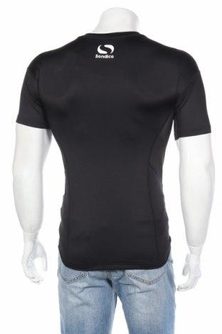 Мъжка тениска Sondico, Размер L, Цвят Черен, 92% полиестер, 8% еластан, Цена 29,25лв.