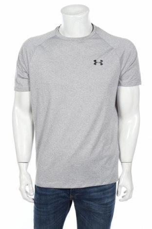 Мъжка тениска Under Armour, Размер M, Цвят Сив, Полиестер, Цена 27,60лв.
