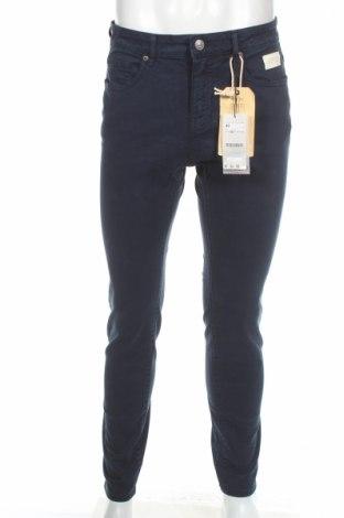 Męskie jeansy Stradivarius, Rozmiar M, Kolor Niebieski, 99% bawełna, 1% elastyna, Cena 30,68zł