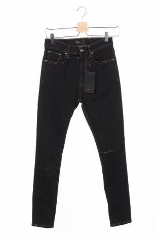 Męskie jeansy Zara Man, Rozmiar XS, Kolor Niebieski, Bawełna, poliester, elastyna, Cena 51,63zł