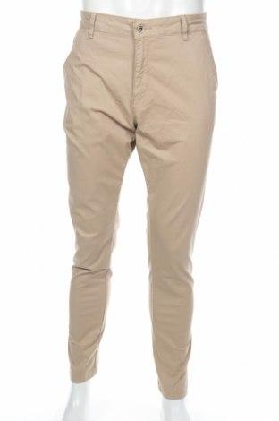 Ανδρικό παντελόνι Zara Man, Μέγεθος L, Χρώμα  Μπέζ, 66% βαμβάκι, 32% lyocell, 2% ελαστάνη, Τιμή 12,45€