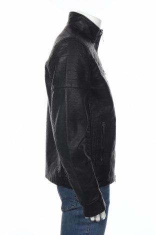 Мъжко кожено яке Firetrap, Размер M, Цвят Черен, Еко кожа, Цена 126,75лв.