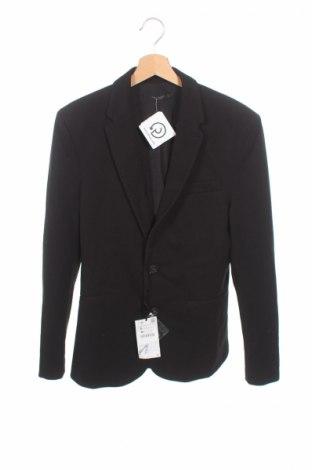 Sacou de bărbați Zara, Mărime S, Culoare Negru, 99% poliester, 1% elastan, Preț 86,05 Lei