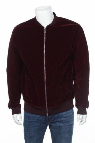 Ανδρικό μπουφάν Zara Man, Μέγεθος XL, Χρώμα Κόκκινο, 97% πολυεστέρας, 3% ελαστάνη, Τιμή 17,86€