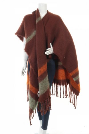 Пончо Zara, Размер M, Цвят Многоцветен, Полиестер, Цена 48,95лв.
