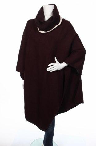 Пончо Zara Knitwear, Размер M, Цвят Червен, 54% полиамид, 38% акрил, 8% вълна, Цена 85,44лв.