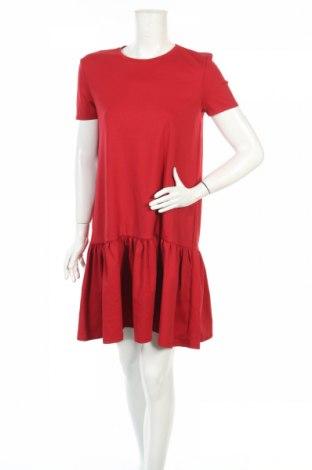 Šaty  Zara, Rozměr M, Barva Červená, 64% bavlna, 28% polyester, 8% elastan, Cena  400,00Kč