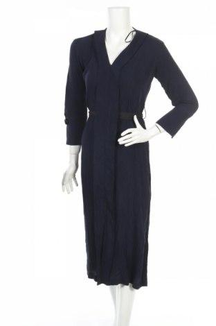 Рокля Zara, Размер XS, Цвят Син, 85% вискоза, 15% полиамид, Цена 51,75лв.